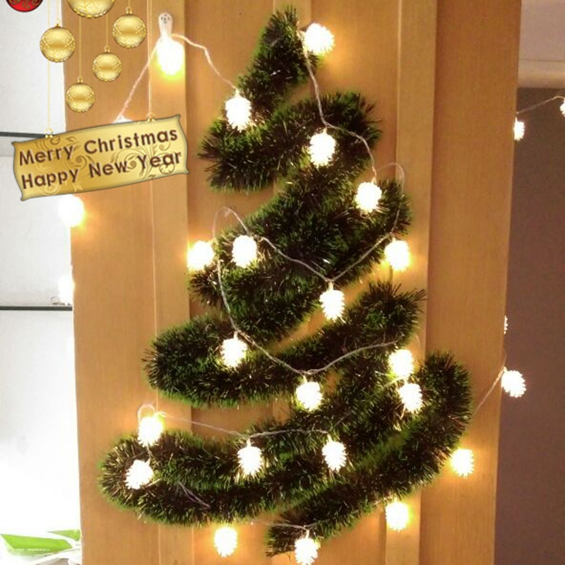 Waterproof outdoor led lights string pinecone chandeliers yard Christmas lights outdoor balcony lights(China (Mainland))