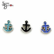Buy Hot selling 30pcs/lots Enamel Anchor floating charms Living Memory lockets Pendant SJFC580 for $5.22 in AliExpress store