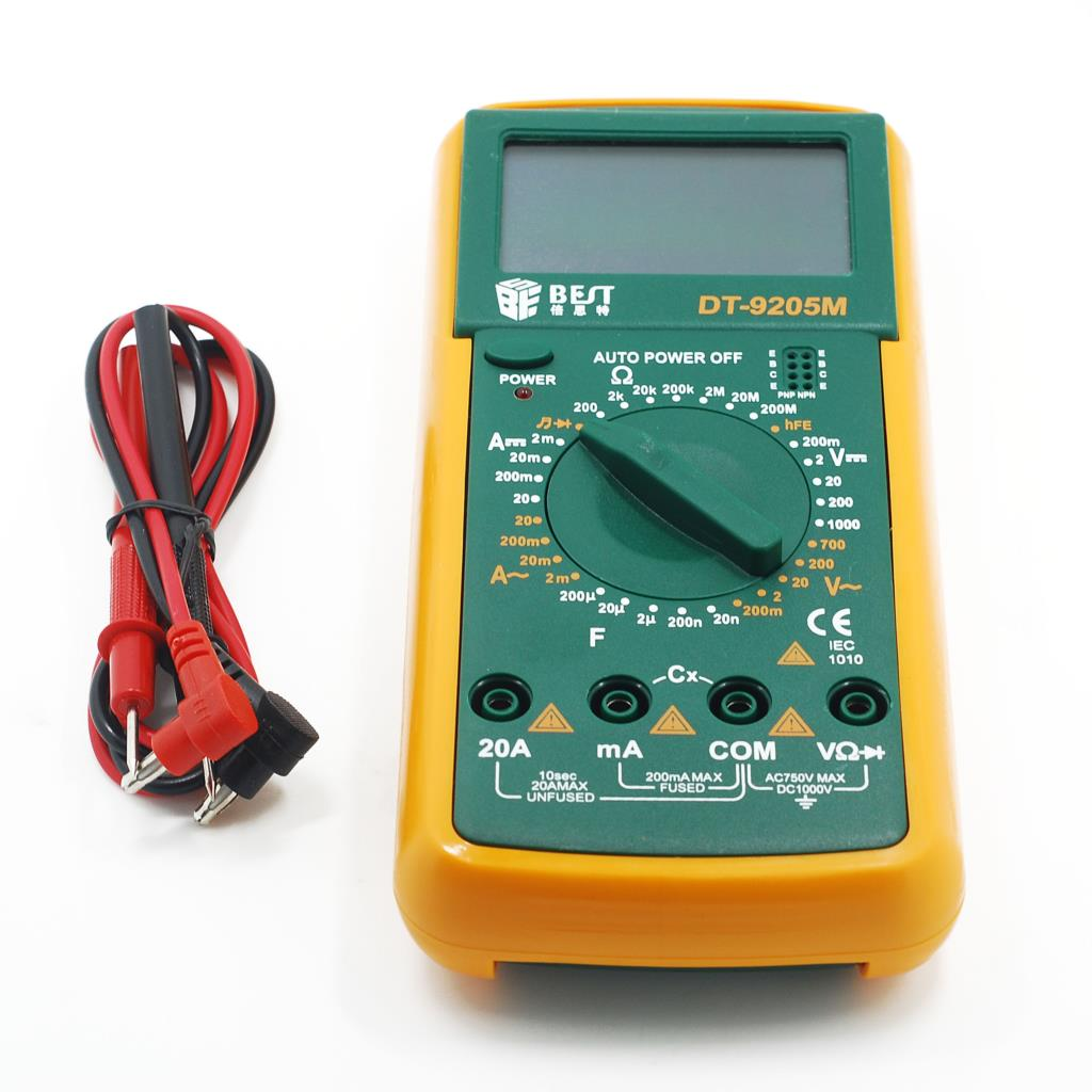 DT9205 AC/DC Professional Electric Handheld Tester Meter Digital Multimeter, freeshipping,dropshipping(China (Mainland))