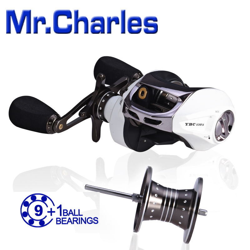 MrCharles 9BB+1RB NMB 6.5:1 TornadoMode type1505 Bait Casting Fishing Reel(China (Mainland))