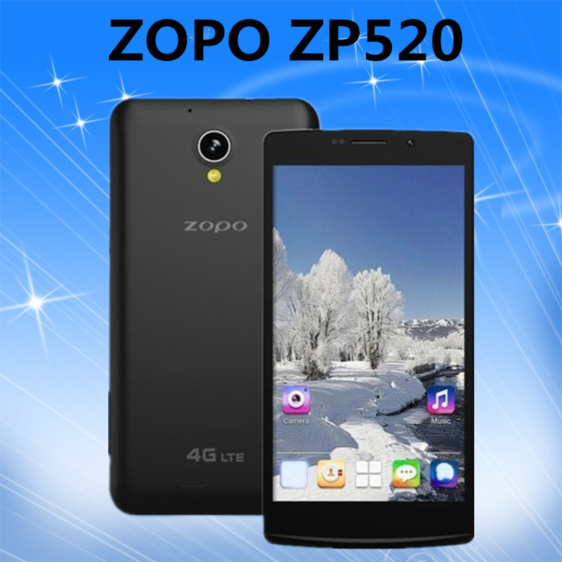 Original ZOPO ZP520 MTK6582 Quad Core 1.3GHz 4G LTE SmartPhone 5.5'' IPS 960*540 Screen 1GB RAM 8GB ROM Android 8.0MP Case Gift(China (Mainland))