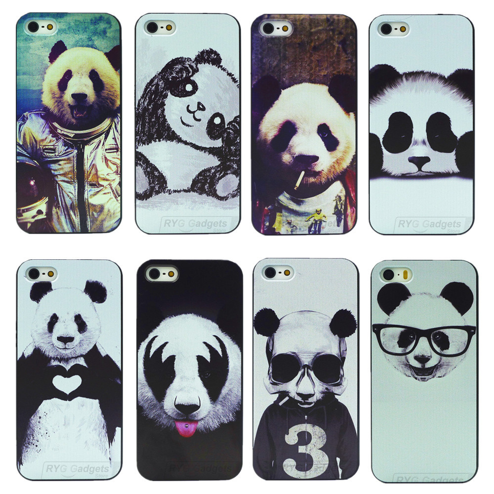 8 Kinds of Styles Super Cute Panda Case For iPhone 5 5S(China (Mainland))