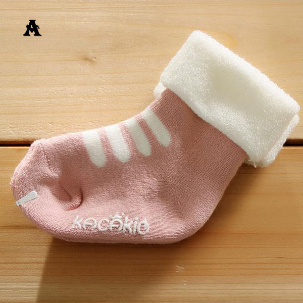 Kids Ankle Socks Winter Cartoon Thick Warm Crew Socks Baby Cotton Antislip 0-4Y Free Shipping &amp; Drop Shipping<br><br>Aliexpress