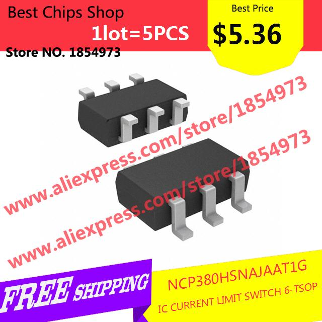 Free Shipping 5PCS=$5.36 Diy Integrated Circuits NCP380HSNAJAAT1G IC CURRENT LIMIT SWITCH 6-TSOP 380 NCP380(China (Mainland))