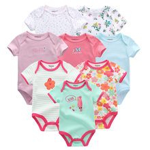 2019 8PCS/lot Clothing Sets Cotton Newborn Unicorn Baby Girl Clothes Bodysuit Baby Clothes Ropa bebe Baby Boy Clothes(China)