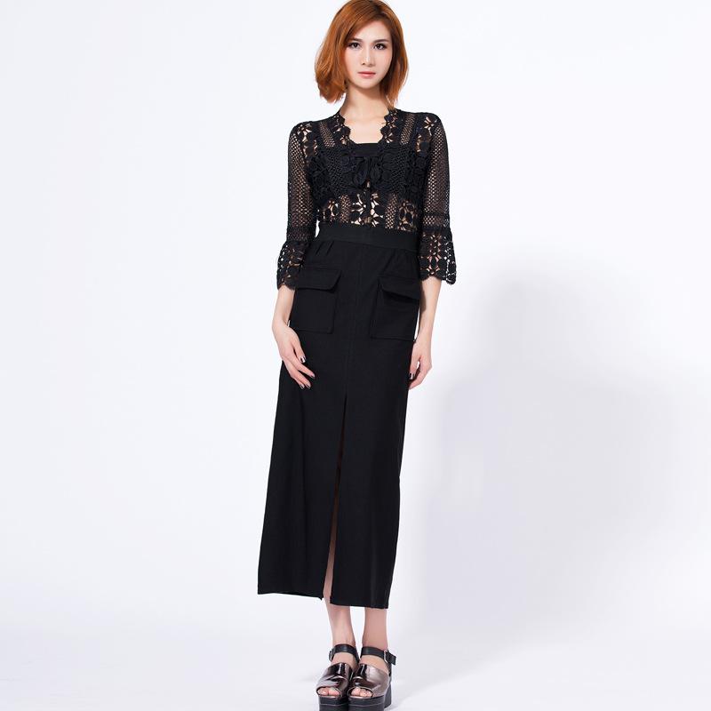 2016 summer new fashion women sexy black lace dress vestido elbise robe femme(China (Mainland))