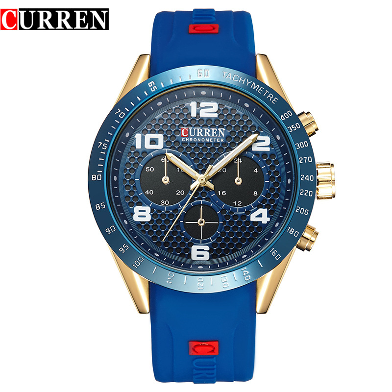 2016 new Curren brand design genuine rubber military men fashion clock army sport male gift wrist quartz business watch 8167(China (Mainland))