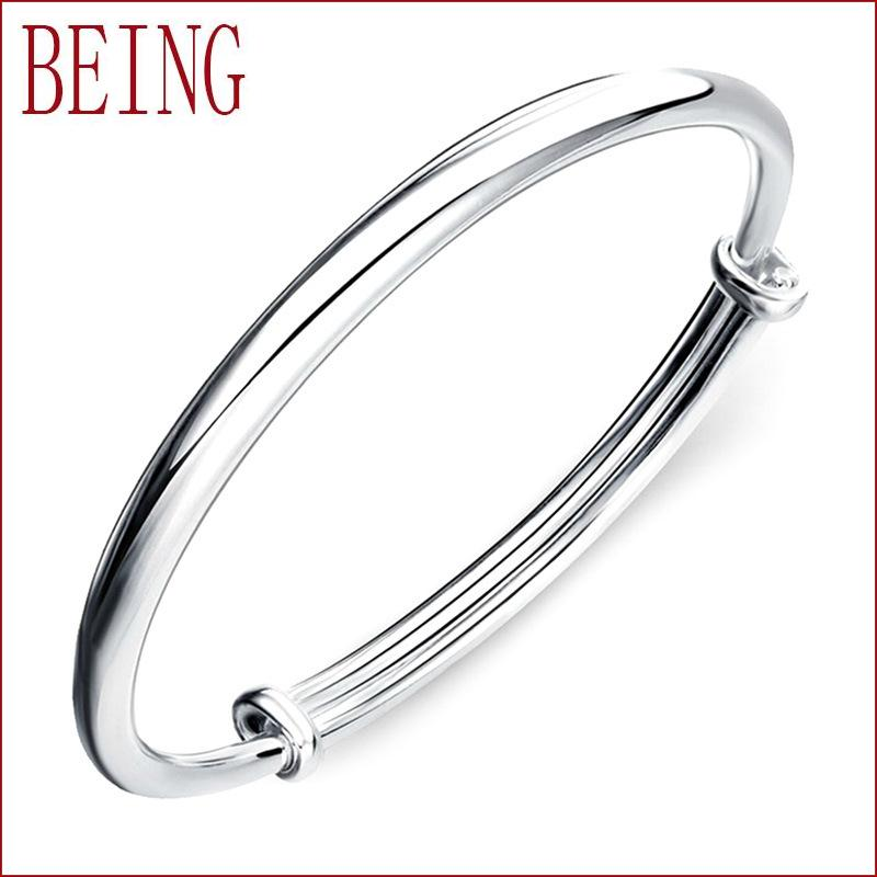 925 pure silver light all-match simple Bracelet Vera Royal Women handed down in pure love bracelet wholesale manufacturers(China (Mainland))