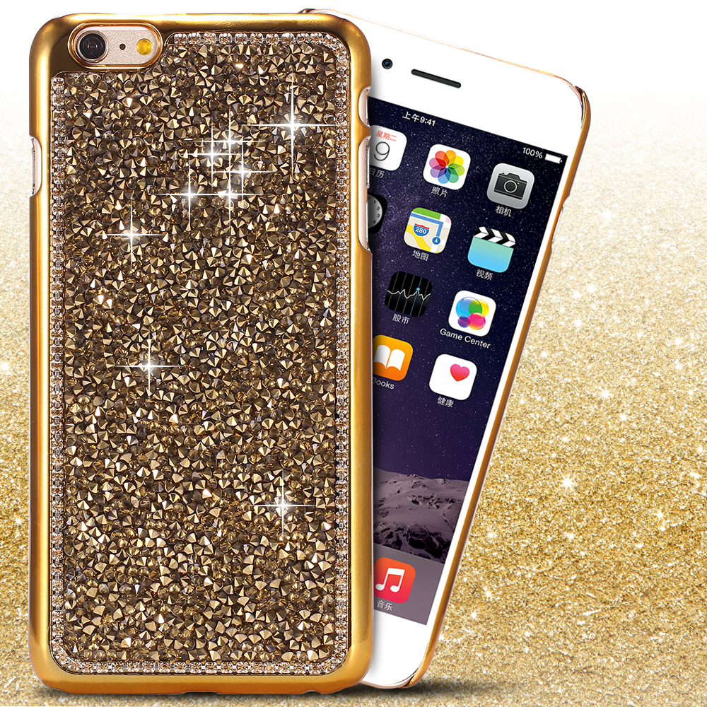 for iphone 6 plus Diamond Case! Bling Rhinestone Shiny Case for Apple iPhone 6 Plus 5.5 inch Luxury Noble Crystal Diamond Cover(China (Mainland))