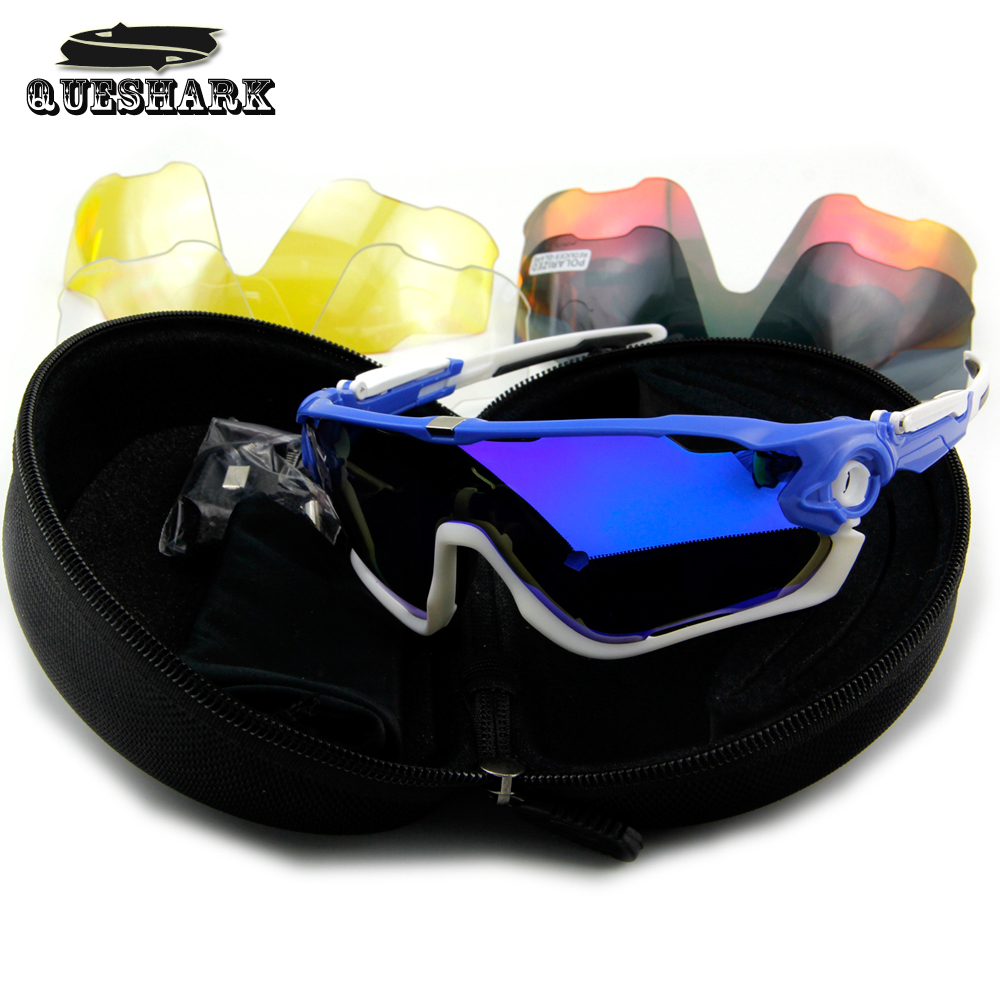 2016 Brand New Queshark Tour De France Cycling Sunglasses Cycling Glasses 5 Pair Lens Polarized Sports Outdoor(China (Mainland))