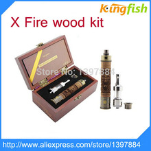 E-cig mods E-Fire E Cigarettes VV Mod Kit E Fire Battery Protank II Atomizer  e cig vaporizer pen wood kit