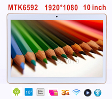 Tablet 10 inch Octa Core MTK6592 1920*1080 HD 9.7 IPS 3G Phone Call Android 4.4 Tablet PCS 2GB/32GB 8MP Wifi Bluetooth GPS 10.1