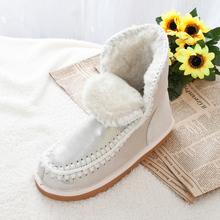 Mujeres del invierno de la zalea de piel de nieve bota de nieve del tobillo del cuero genuino lana Natural dentro de las botas de invierno femeninos(China (Mainland))