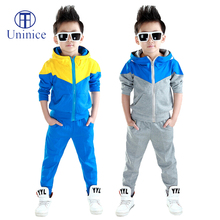 Clothes boys 2016 new arrival baby boys hoodied coats and jackets +pants sets korean fashion clothing sports suit kids tracksuit(China (Mainland))