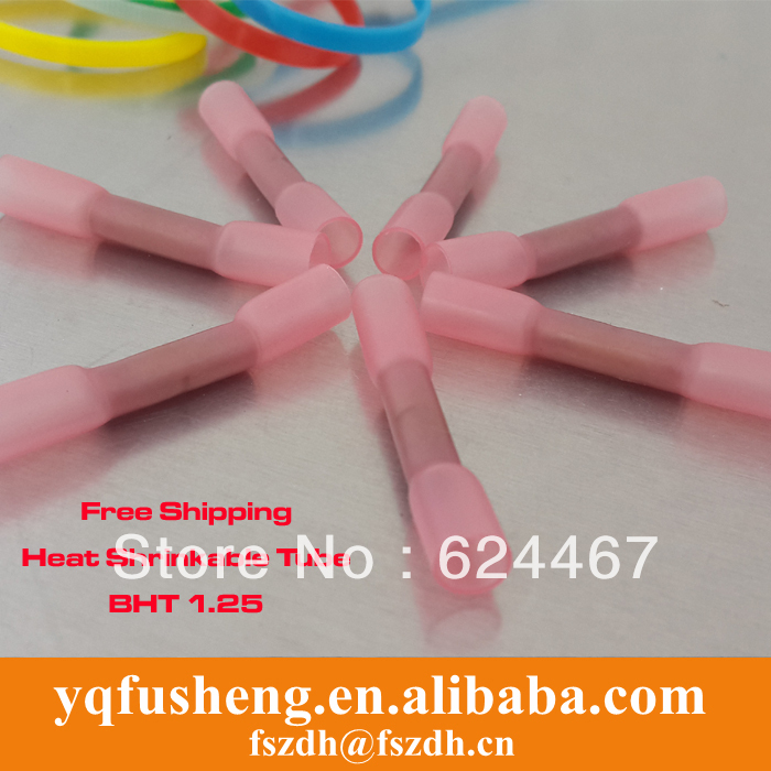 BHT1 Red Heat Shrink Butt Connectors Splices 0.5-1.5mm2 , 22-16 AWG Wire - Yueqing Fusheng Automation Fixture Factory store