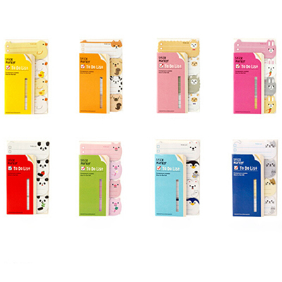 product New High Quality Creative Candy Colors Kawaii To Do List Sticker Paste Bookmark Marker Memo Flags Index Tab Sticky Notes