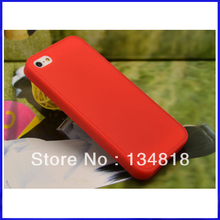 DHL Free shipping Wholesale High Quaility 2013 New Product Soft Silicone Cover Case For Apple iPhone 5 5G(China (Mainland))