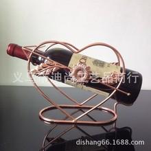Любовь типа железа винный шкаф винный шкаф вина опора золотой бронзовый розовое золото