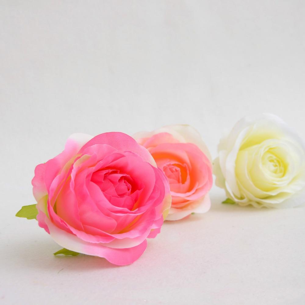Simulation Artificial Silk Flower 10cm Rose Bud with foam flower heart Hand Diy Head Garlands Wedding Home Decoration(China (Mainland))