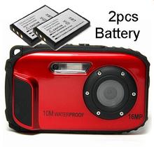 16Mega pixels Waterproof Camera hd with 2.7 inch screen  Zoom x 8 camera digital (Total 2pcs Battery )(China (Mainland))