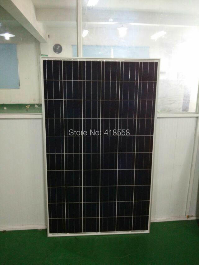 solar panel 1000w poly crystalline solar panel 100W 10pcs with free shipping 17% charge efficiency 25 year free shipping(China (Mainland))