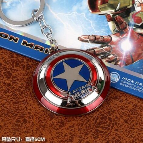 Hot Marvel Super Hero Captain America Pendant Key Chain Ring Holder Trinket llaveros Metal Avengers Keychain Cosplay Jewelry<br><br>Aliexpress