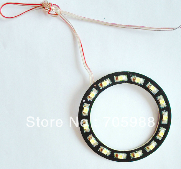 100* 60mm WHITE COLOR car truck headlight 15SMD 1210 LED angel ring lights vehicle decorative lights WHITE<br><br>Aliexpress