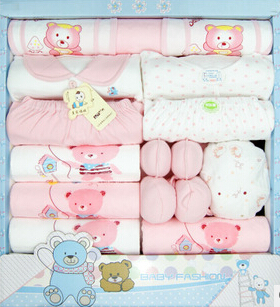 free shipping! new 2014 100% cotton newborn baby clothing sets infants suit baby girls boys clothes(China (Mainland))