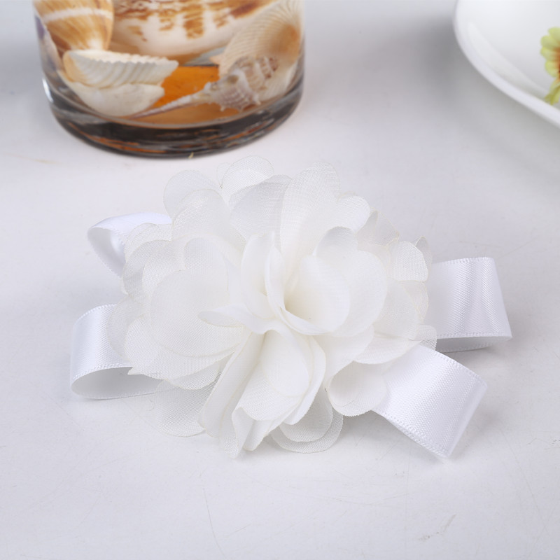 New 2015 Flowers White Bridal wrist flower High purity wedding decoration 1 - Yiwu Zilue Trading Co.,Ltd Store store