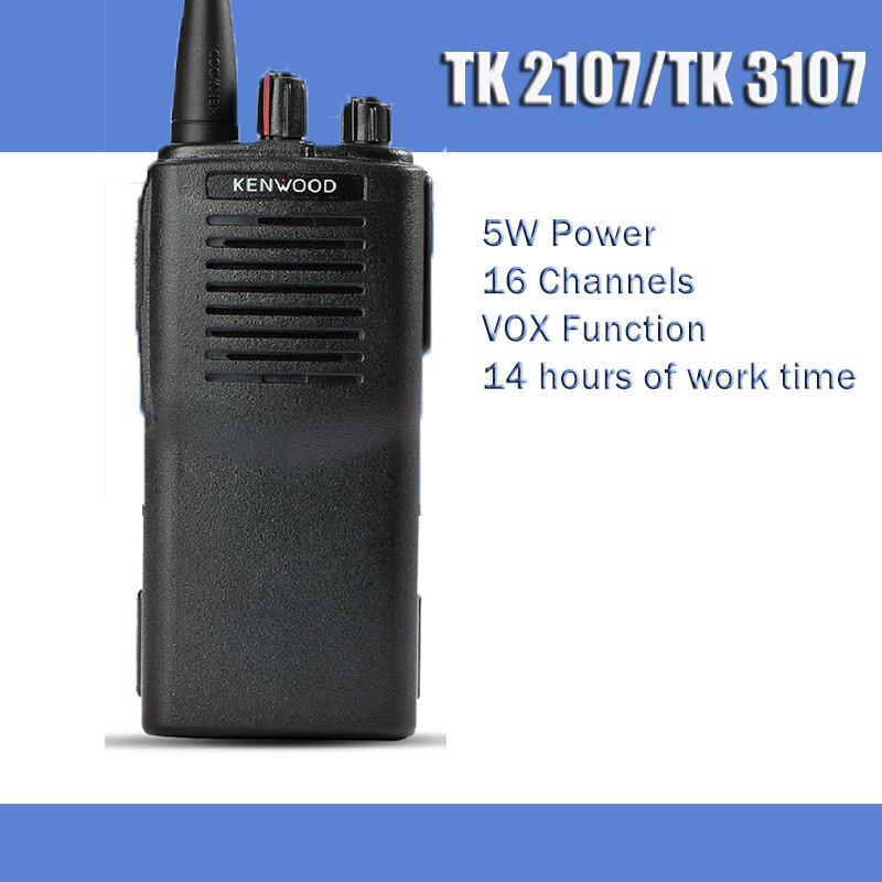 Original TK-2107 or TK-3107 Transmitter 5W VHF or UHF CB Best Walkie Talkie Portable Two Way Radio 2sets/lot(China (Mainland))