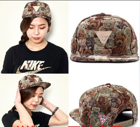 Brand New Top quality Little bear Snapback Cap baseball cap Original Adjustable HIPHOP hat&caps men women Free Shipping(China (Mainland))