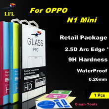 LFL For OPPO N1 Mini Tempered Glass 2.5D Arc Edge Transparent Screen Protector Case Protective Film Guard Mobile Accessories