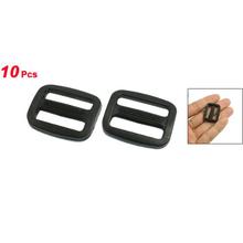 """Promotion! Webbing 25/32"""" Black Hard Plastic Slide Rectangle Buckle 10 Pcs(China (Mainland))"""