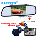 Abs shell material 4 led car rear view camera wire Dynamic track line with black shell