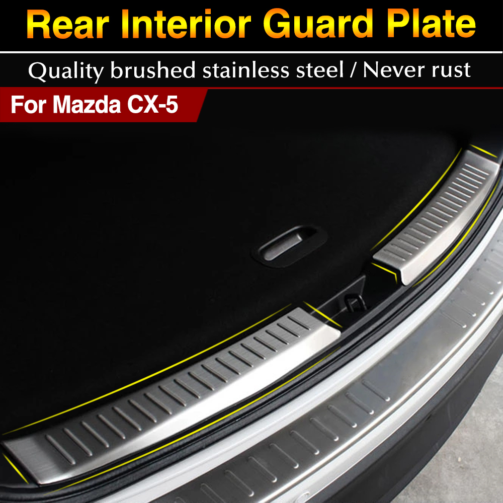 For Mazda Cx 5 Cx5 2012 2013 2014 2015 Stainless Steel Inner Rear Bumper Protector Sill Trunk