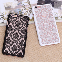 Hot! New Arrivals Fashion Luxury Palace Flower Damask Hard Plastic Mobile Phone Skin Case Cover For iPhone 6 6s 4.7″ 6Plus 5.5″