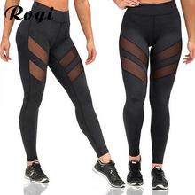 Buy Rogi Leggins Women New Fashion Mesh Patchwork Black Leggings Pants Spring Summer Fitness Workout Sporting Slim Push Trousers for $6.95 in AliExpress store