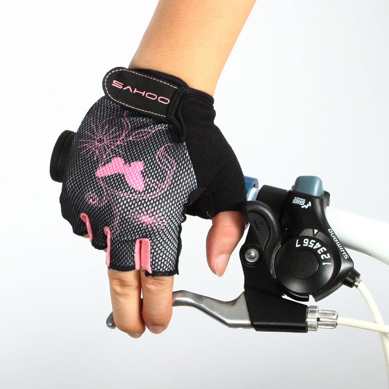 SAHOO Half finger Sports Gloves Cycling Women 4 size option freeshipping - & Outdoor store