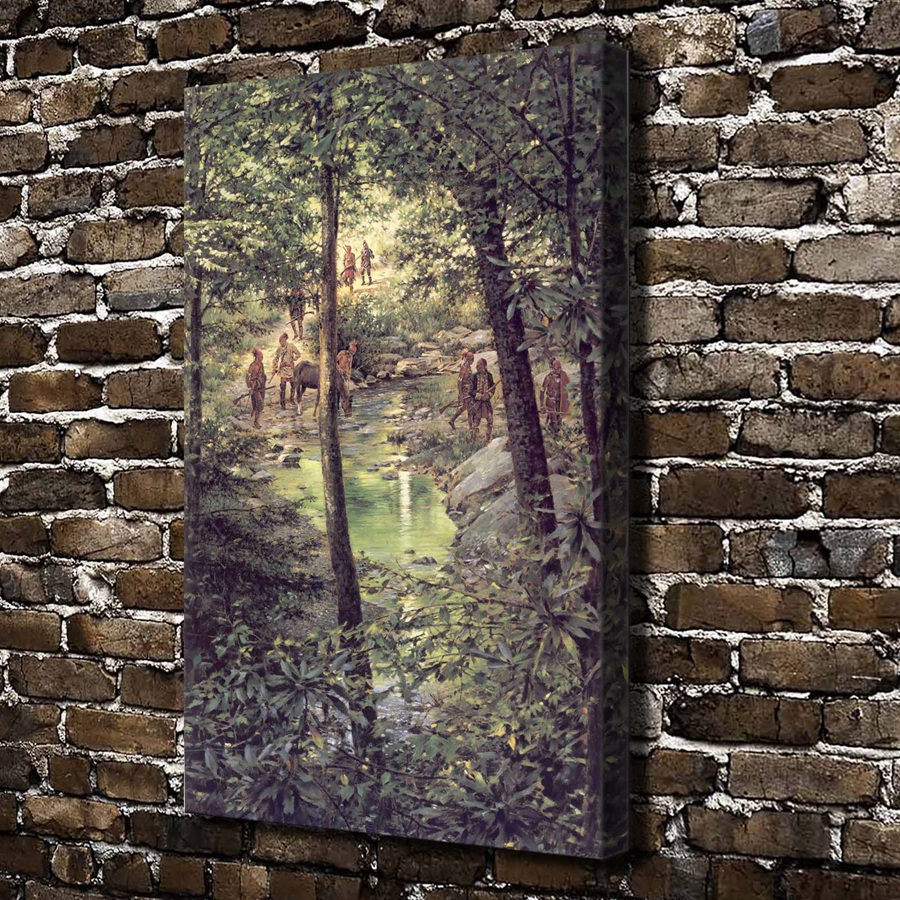A1615 Robert Griffing Hunter Woods River Scenery, HD Canvas Print Home decoration Living Room bedroom Wall pictures Art painting(China (Mainland))