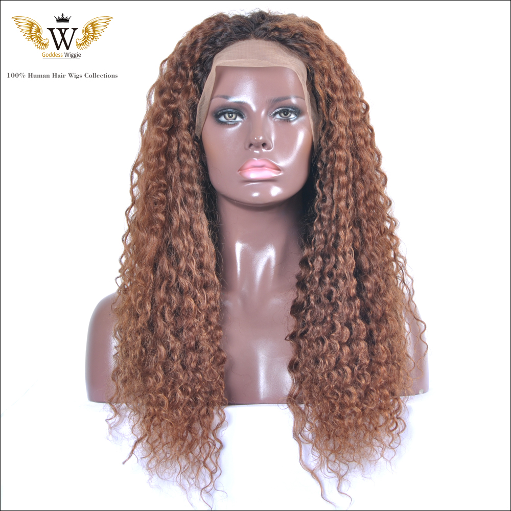 150% Density Ombre Human Hair Lace Front Wigs Full Lace Front Wigs Human Hair Black Women Brazilian Hair  Curly Human Lace Wigs