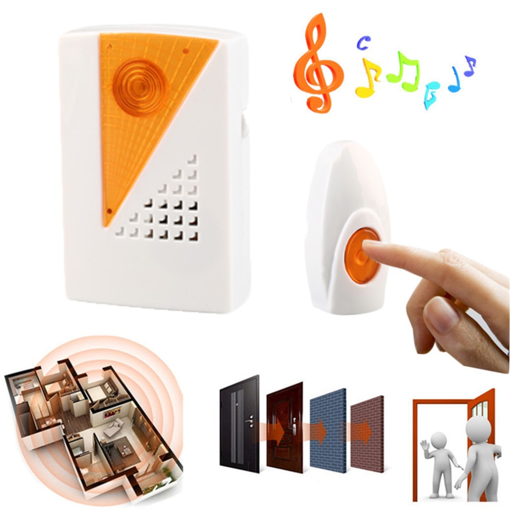 2016high quality Digital Wireless Door Bell Twin Plug 100 Meter Range 36 Melodies Musical Remote Control Cordless Chime Doorbell<br><br>Aliexpress