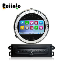 Car 2 Din DVD GPS Navigation Radio Stereo Device Head Unit Player Silver color for BMW Mini Cooper After 2006-2013Year