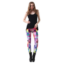 Lgs3127 New Fashion Women's Pants Plus Size Black Milk Galaxy Tartan Rainbow Colorful Digital Print Skinny Leggings For autumn