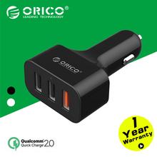 Orico UCH-2U1Q 3 разъём(ов) QC2.0 USB быстрое зарядное устройство для автомобиля для телефона iPad — черный / белый