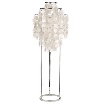 indoor lighting/Happy shell pearl shell floor lamp/living room stand lamp/designer by verner panton/free shipping(China (Mainland))