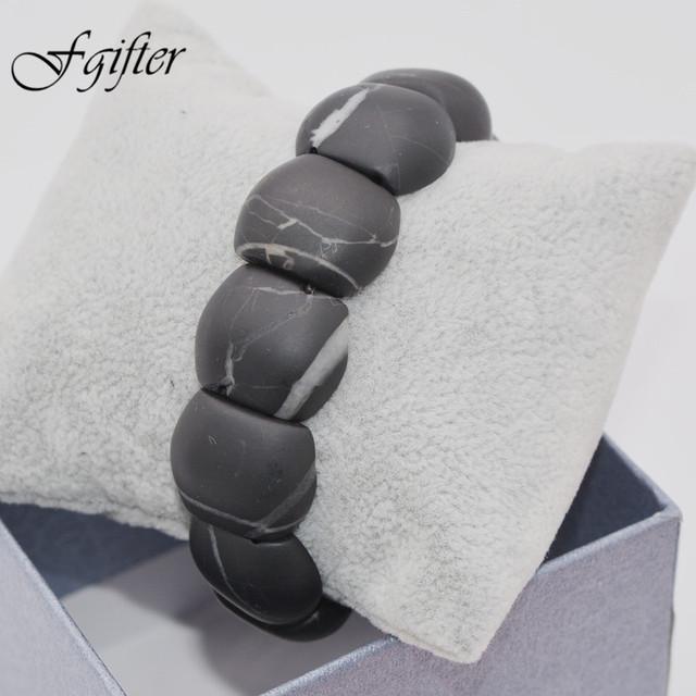 100% новинка мужчины природный камень браслет черный bianshi нефрита banichi бусины ...
