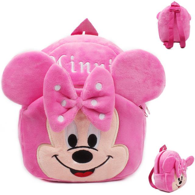 Горячая распродажа! Прекрасный плюшевые минни мешок школы дети рюкзак ранец для 0-3years ...