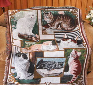 Free shipping 2014 new listing Boutique Art fringed tapestry American pastoral sofa towel cat family carpet wholesale