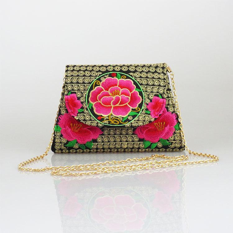 Women Fashion Vintage Hand-Made Chinese National Ethnic Style Embroidered Shoulder Bag Ladies Elegant Grace Messenger BagXA1189D(China (Mainland))