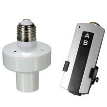 E27 Tornillo de Control Remoto Inalámbrico de Luz de lámpara Soporte de Lámpara Cap Socket Interruptor 12A Mando a Distancia De Unos 10 M Más Popular